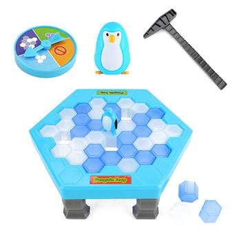 Icebreake Toy Ice-Breaking Penguin Stand Wall - Breaking Toy Penguin Table Top Game Parent - Child Interactive Educational Toy фото