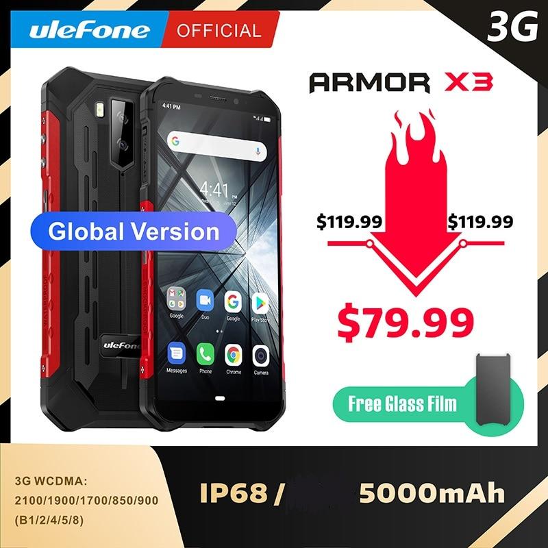 Ulefone Rüstung X3 ip68 Robuste Wasserdichte Smartphone Android 9.0 Telefon Superbattery Handy 5,5 zoll HD + 2GB 32GB telefon-in Handys aus Handys & Telekommunikation bei AliExpress - 11.11_Doppel-11Tag der Singles 1
