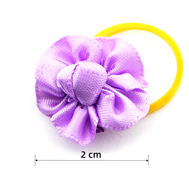 (24 pieces/lot) Pet Puppy Small Dog Hair Flower Bows Pet Hair Accessories Dog Bowknot Elastic Band Decoration Poodle 4