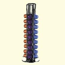 Практичный Кофе капсулы распределяя башня стенд подходит для 40 с фильтром для кофемашины Nespresso капсулы для хранения Pod держатель Держатель ...