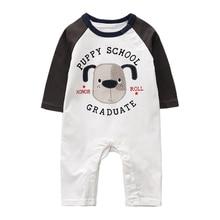 Newborn Baby Boy Clothes  Bodysuits Autumn Cartoon Animal Long-sleeved Onesies Cute Infant Clothing Girl 3-24M