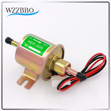 New 12V Electric Fuel Pump Low Pressure Bolt Fixing Wire Diesel Petrol HEP-02A For Car Carburetor Motorcycle ATV 8mm WZZBBO1