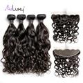 Aiuxy OneCut Hair Brazilian Human Hair Water Wave Hair 4 Bundles with Frontal Unprocessed Virgin Hair bundles with Frontal