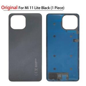 Image 5 - 100% 오리지널 신제품 Xiaomi Mi 10T 11 Lite 백 유리 배터리 커버 후면 하우징 도어 케이스 배터리 커버 (접착 테이프 포함)