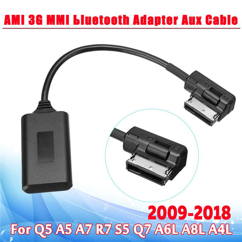 AMI MMI Bluetooth ModuleAdapter Aux Cable Wireless Audio Input Aux Radio Media Interface For Audi Q5 A5 A7 R7 S5 Q7 A6L A8L A4L(China)
