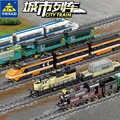 Nuova Tecnica Alimentato A Batteria Elettrica Classic City Ferroviario Treno Blocchi di Costruzione di Mattoni Regalo Legoingly Giocattoli Per I Bambini Delle Ragazze Dei Ragazzi