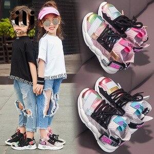 Image 5 - 2020 ฤดูใบไม้ร่วงเด็กรองเท้าผ้าใบสาวรองเท้าเด็กแฟชั่นรองเท้าเด็กสำหรับสาวกีฬารองเท้าวิ่งเด็กรองเท้า Chaussure Enfant