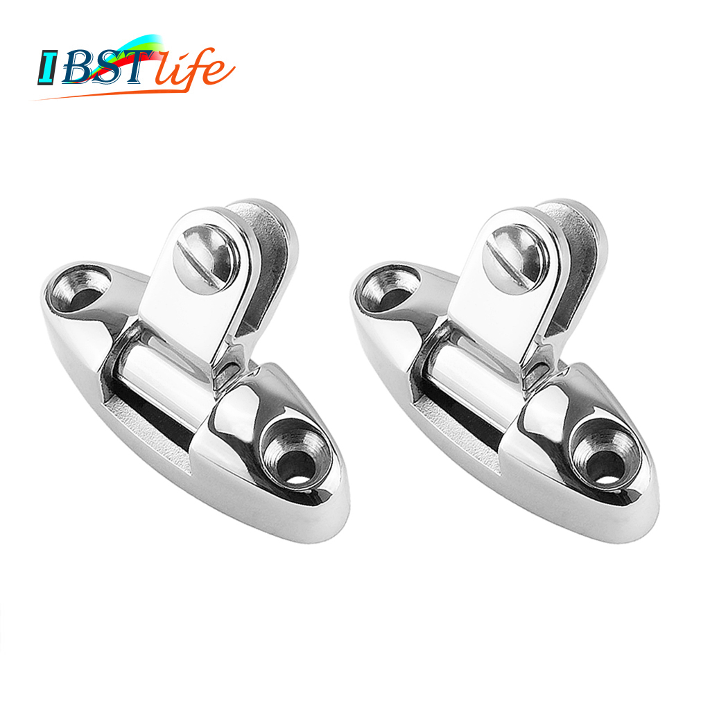 2PCS Universal fit Stainless Steel 316 <font><b>Boat</b></font> <font><b>Bimini</b></font> <font><b>Top</b></font> Mount Swivel Deck Hinge With Rubber Pad Marine Yacht <font><b>Hardware</b></font> image