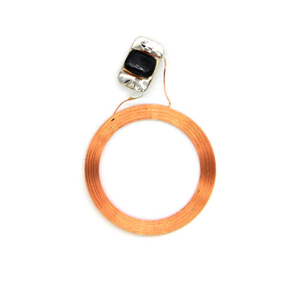 1pcs 13.56MHz FM11RF08 MF 1K F08 S50 IC Key Ring RFID NFC Tags Naked Coil+Chip  Access Control Fast Shipping