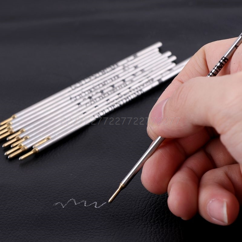 Thumb Silver Iron Pipe Refill Clothing Leather Cloth Cutting Positioning Special Mark Line Pen Silver Rod 12 Pcs / Box S07 19