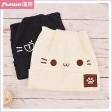 Monzon официальная Милая вязаная шапка с котом хлопковая для