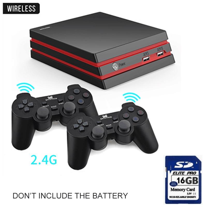 Игровая консоль-лягушка с 2,4G беспроводным контроллером HDMI, видео игровая консоль 600, классические игры для GBA family tv, Ретро игры - Цвет: Wireless with card