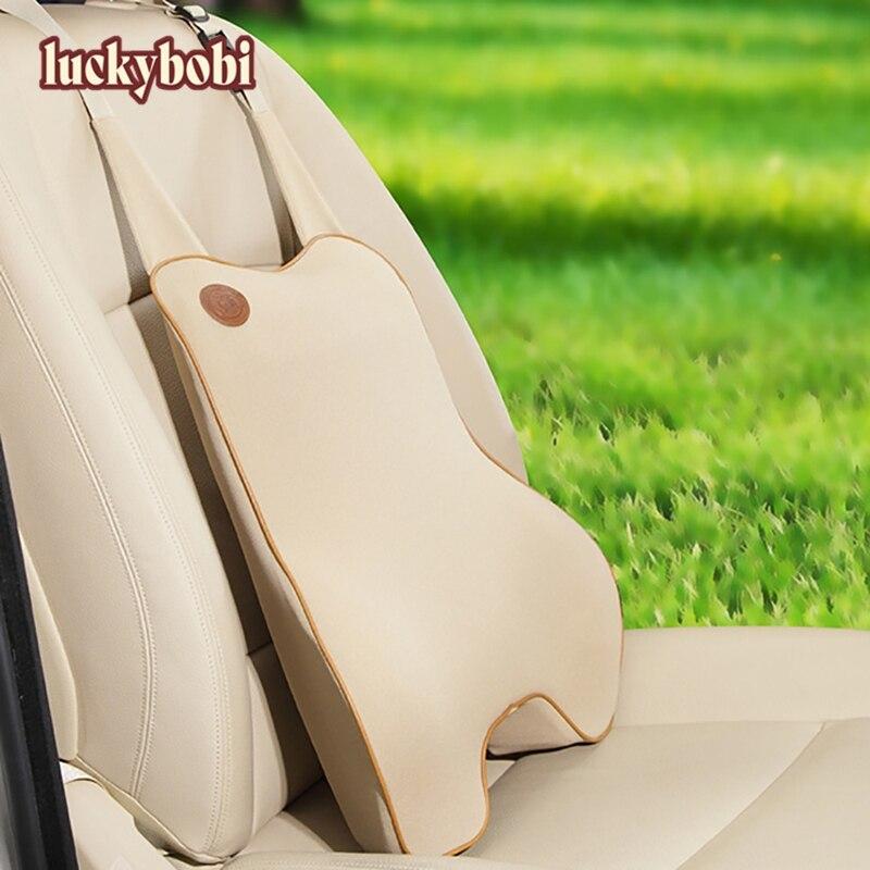 Luckybobi Car Cushion Chair Massage Lumbar Support Waist Car Back Support Memory Foam Pad For Car Office Home Universal B02