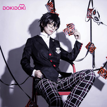 купить DokiDoki Game Persona 5 Cosplay Akira Kurusu JOKER Scheool Uniform  Persona 5 Cosplay Costume Men Akira Kurusu JOKER по цене 4106.4 рублей