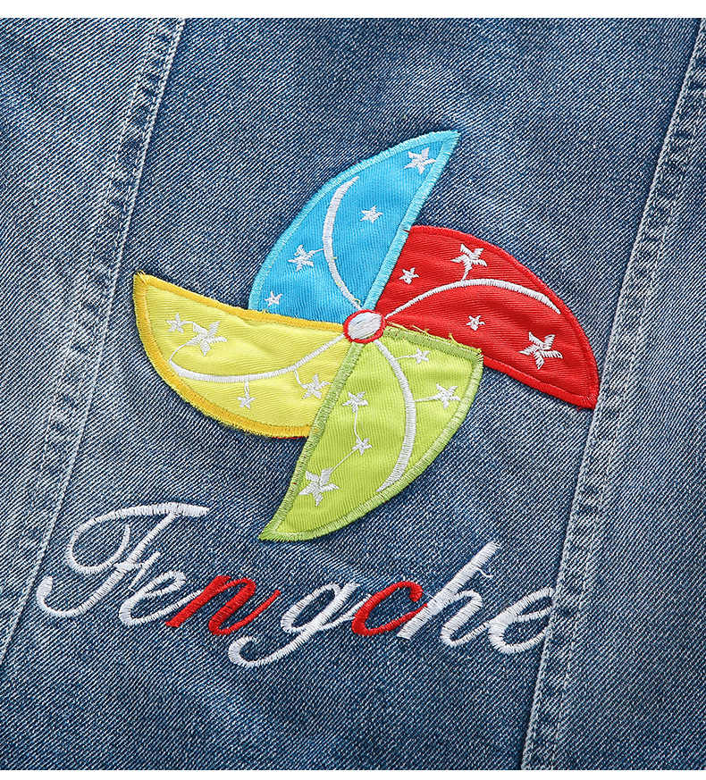 בני נוער בגדי 2019 אביב סתיו בנות מעילי ג 'ינס בנות הלבשה עליונה מעיל ילדי ילדים דנים מעיל 4 6 7 8 9 10 11 12 שנה
