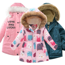 Autumn Winter Girls Jacket For Girls Coat Kids Hooded Warm Outerwear Coat For Girls Clothes Children Jacket 4 5 6 7 8 9 10 Year