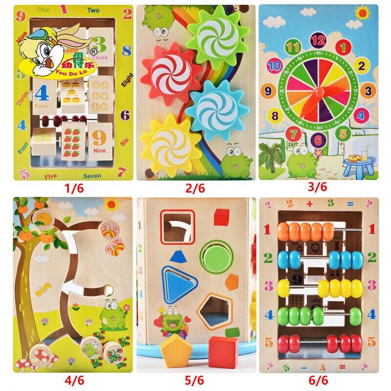 Montessori Houten Speelgoed Houten Cirkels Kraal Draad Doolhof Achtbaan Educatief Houten Puzzels Kid Speelgoed - 6