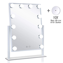Hollywood Style Vanity Cosmetic Lighted Makeup Mirrors with Lights 12x3W Dimmable LED Bulbs Touch Control Tricolor