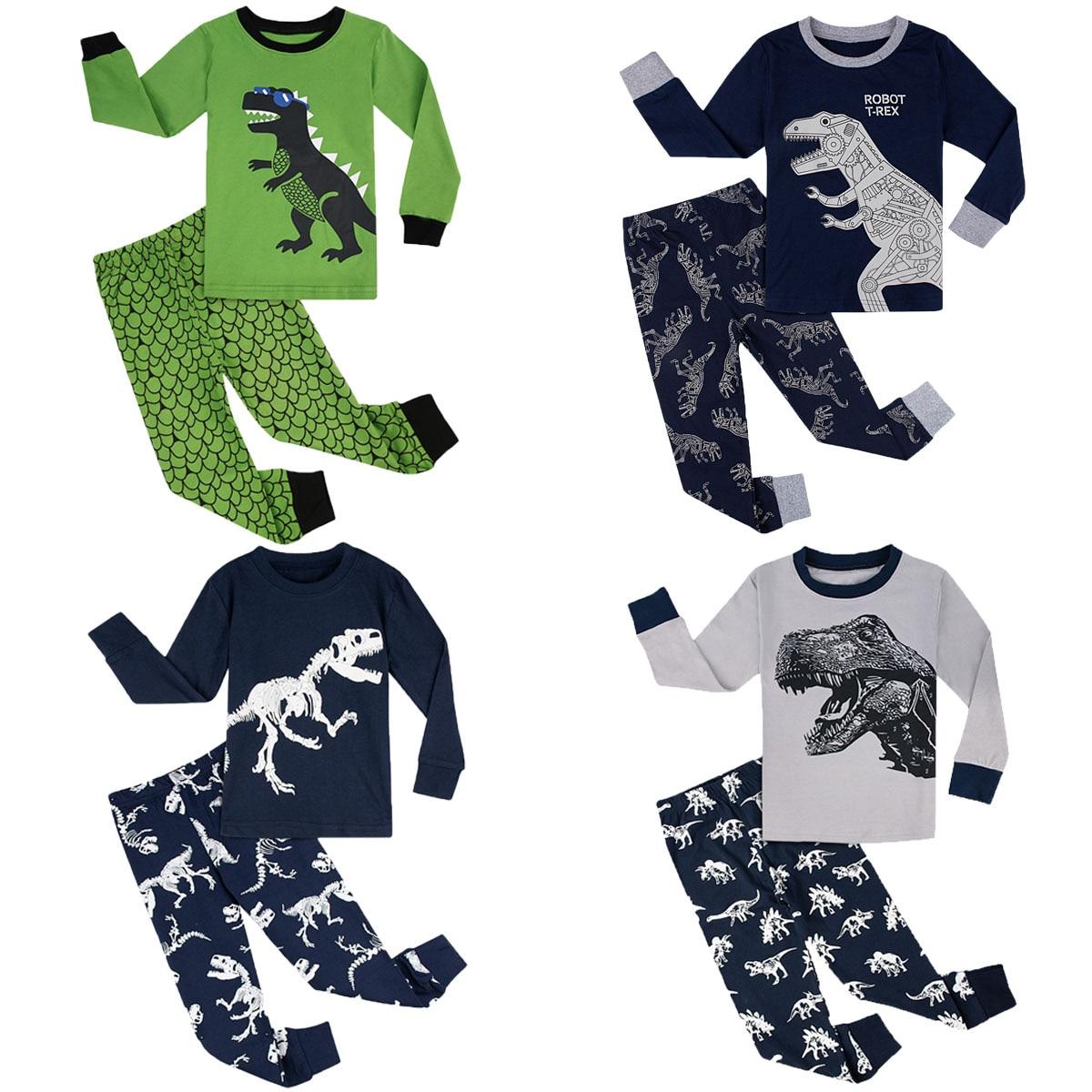 Blue Jellyfish Girl Cotton Crewneck Boys-Girls Sleepwear Pajama 2 Pcs Set