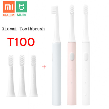 xiaomi Mijia T100 Sonic Electric Toothbrush Adult Ultrasonic Automatic Toothbrush USB Rechargeable Waterproof Tooth Brush Xiaomi free dhl or ems rechargeable ultrasonic intelligent adult electric with antibacterial silicone brush fully automatic toothbrush