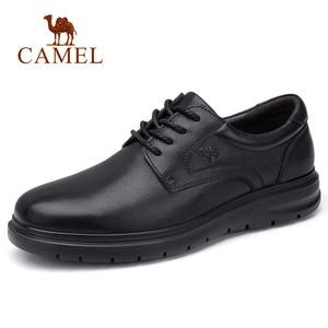 Image 2 - CAMEL chaussures pour hommes été en cuir hommes affaires décontracté grand cuir chevelu peau de vache ensembles papa chaussures anti dérapant élastique résistant chaussures hommes