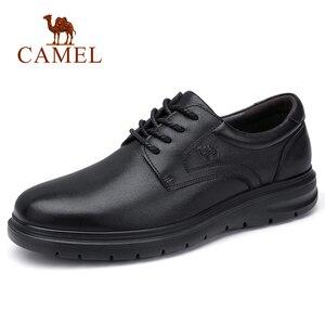Image 2 - Deve erkek ayakkabıları yaz deri erkek iş rahat büyük kafa derisi inek derisi setleri baba ayakkabı kaymaz elastik dayanıklı ayakkabı erkekler