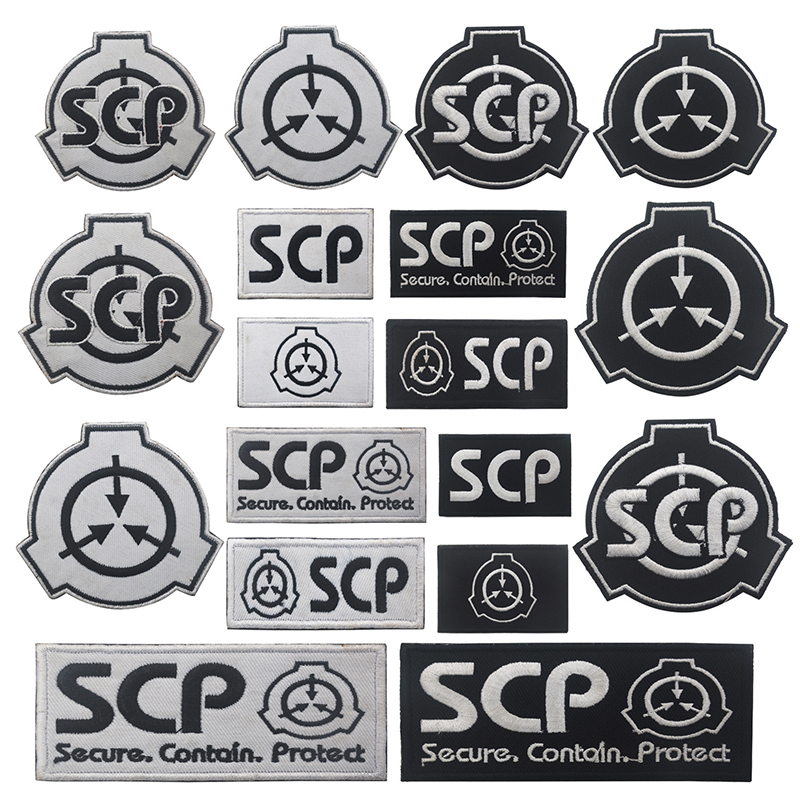 SCP Foundation Special Containment Procedures Cosplay Badges Hook & Loop Patch