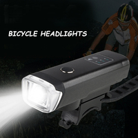 Rechargeable Bike LED Headlights USB Waterproof Bicycle Safety Riding Flashlight Warning Front Lamp for Outdoor Cycling