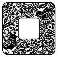 YaMinSanNiO Rose Bird Square Metal Cutting Dies Frame Craft Die Scrapbooking Embossing Stencil DIY Cut Card Decoratio
