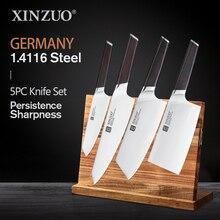 Набор кухонных ножей XINZUO из нержавеющей стали, Профессиональный измельчитель для костей шеф повара, мясница, ручка из черного дерева, 4 шт.