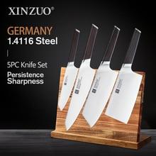 Xinzuo 4 Pcs Keukenmessen Set Rvs Professionele Koken Chef Bone Chopper Cleaver Vlees Mes Ebbenhouten Handvat