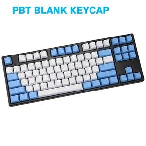 Image 2 - ריק 87 מפתחות ANSI ISO פריסה עבה PBT Keycap לבן כחול טיפת גשם צבע התאמת keycaps OEM