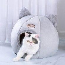 Casa para perros invierno cálido mascota tienda para perro y gato casa perrera invierno cálido nido suave plegable almohadilla para dormir nido para mascotas