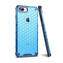 Honeycomb Rugged Hybrid Armor Case For iPhone 11 Pro Max 2019 XS Max XR XS X 8 7 6s 6 Plus Back Cover Transparent Phone Case NEW new iphone case for iphone 11 for iphone11 pro max 5 8 inches 6 1 inches 6 8 inches 6 6s 7 8 plus ix xr max x fashion back cover