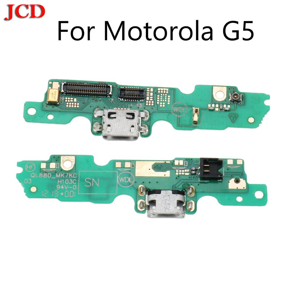 JCD New For Motorola Moto G5 USB Charger Charging Dock Port Board Connector Plug PCB Flex Cable With Mic Microphone