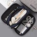 Милый чехол для карандашей  Брезентовая большая сумка для карандашей  Портативная сумка  многофункциональная школьная коробка для каранда...