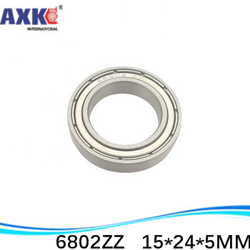 sale price (1pcs) thin wall deep groove ball bearing <font><b>6802ZZ</b></font> 6802-2RS S6802ZZ S6802-2RS 15*24*5 mm ABEC-1 Z2 image