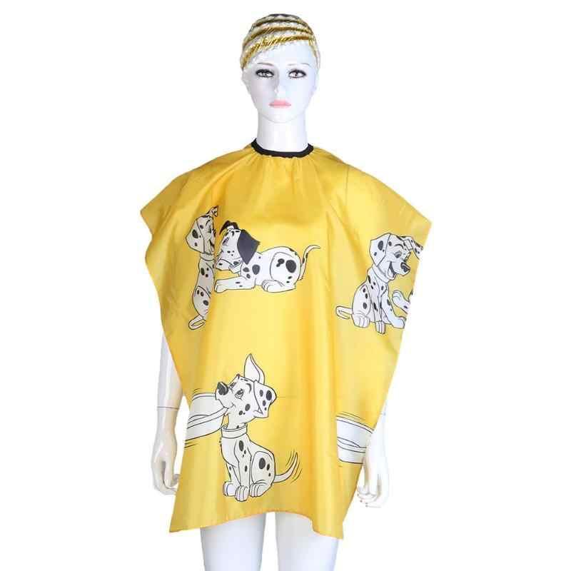 Cabeleireiro dos desenhos animados pano à prova dwaterproof água corte de cabelo do miúdo cabeleireiro pano de vestir capa vestido de barbeiro ferramentas do salão de beleza do cão estilo de cabelo