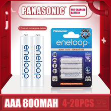 Brand New Panasonic Eneloop 800mAh AAA 1.2V NI-MH Rechargeable Batteries For Electric Toys Flashlight Camera Pre-Charged Battery
