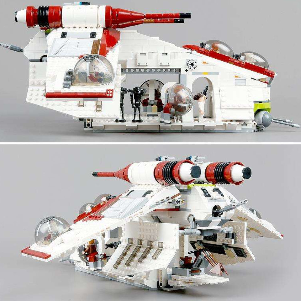 <font><b>05041</b></font> Wars on Star Toy Republic Gunship Set Compatible with lepining Star Wars Ship for Children Educational Blocks Gift Boy0504 image