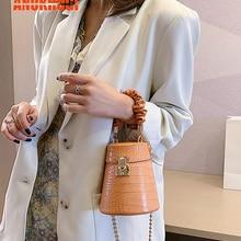 ANOKHOGI Female Stone Print Korean Style Tower Shape Metal Straps Shoulder Bag Candy Color Handbag zx133