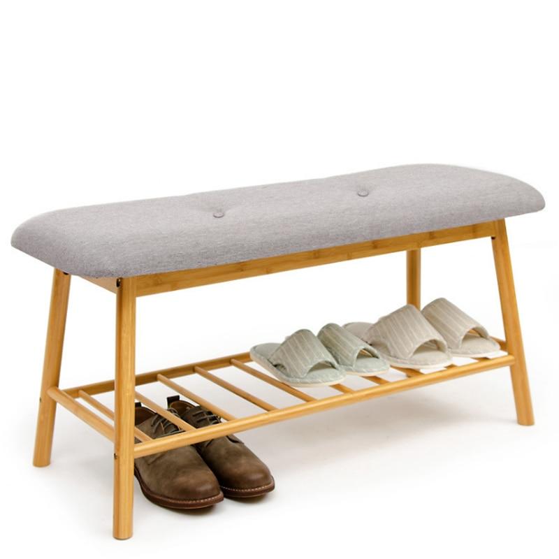 Скамейка для обуви из массива дерева европейская Современная Минималистичная