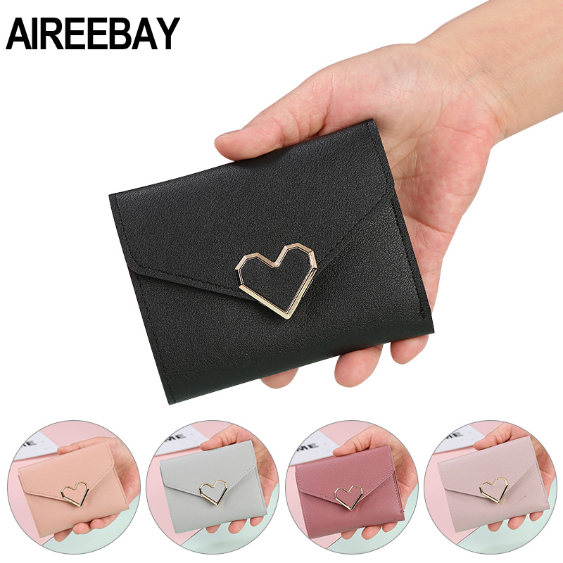 AIREEBAY Новое поступление кошелек короткие женские кошельки на молнии кошелек в стиле пэчворк модные кошельки модный кошелек для монет черный держатель для карт|Кошельки|   | АлиЭкспресс