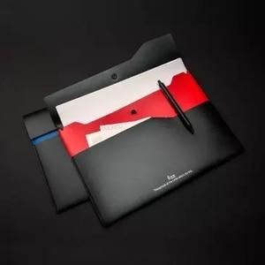 Image 5 - شاومي Fizz اللون طبقة مزدوجة حقيبة ملفات 6 قطعة مزدوجة طبقة جيب وثيقة حقيبة التخزين