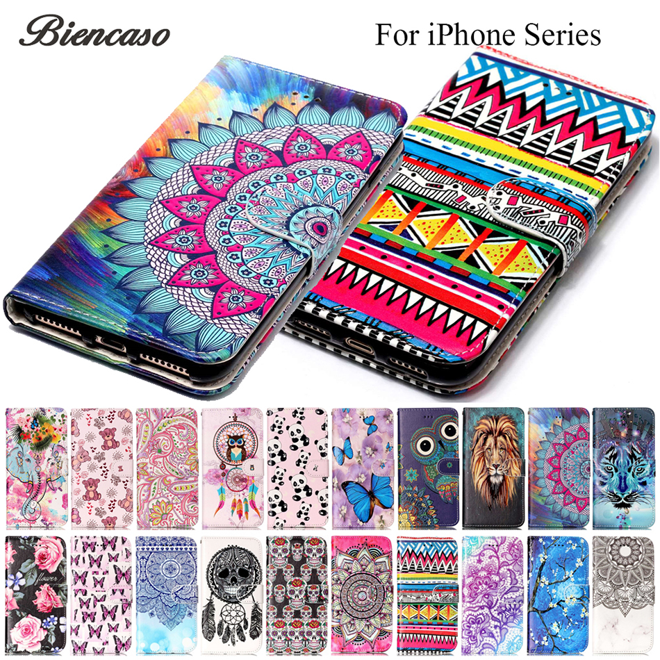 Flip Leather Wallet Cases For iPhone 12 mini 11 Pro Max X XR XS Max 6 7 8 Plus 5 5S SE 2020 Back Cover For iPod Touch 5 6 Funda