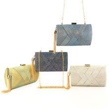 Роскошный брендовый женский кошелек с блестками длинная сумка