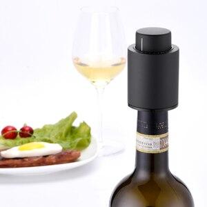 Image 5 - Youpin plastikowe próżniowe korek do butelki wina zamknięte przechowywanie próżniowe pamięci korek do wina elektryczny korek korki do wina