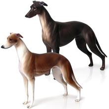1 Pcs Simulation Greyhound Animal Toy PVC Model Action Figure Figurine Kids Toy Home Office Decor Figurine Toy 20cm