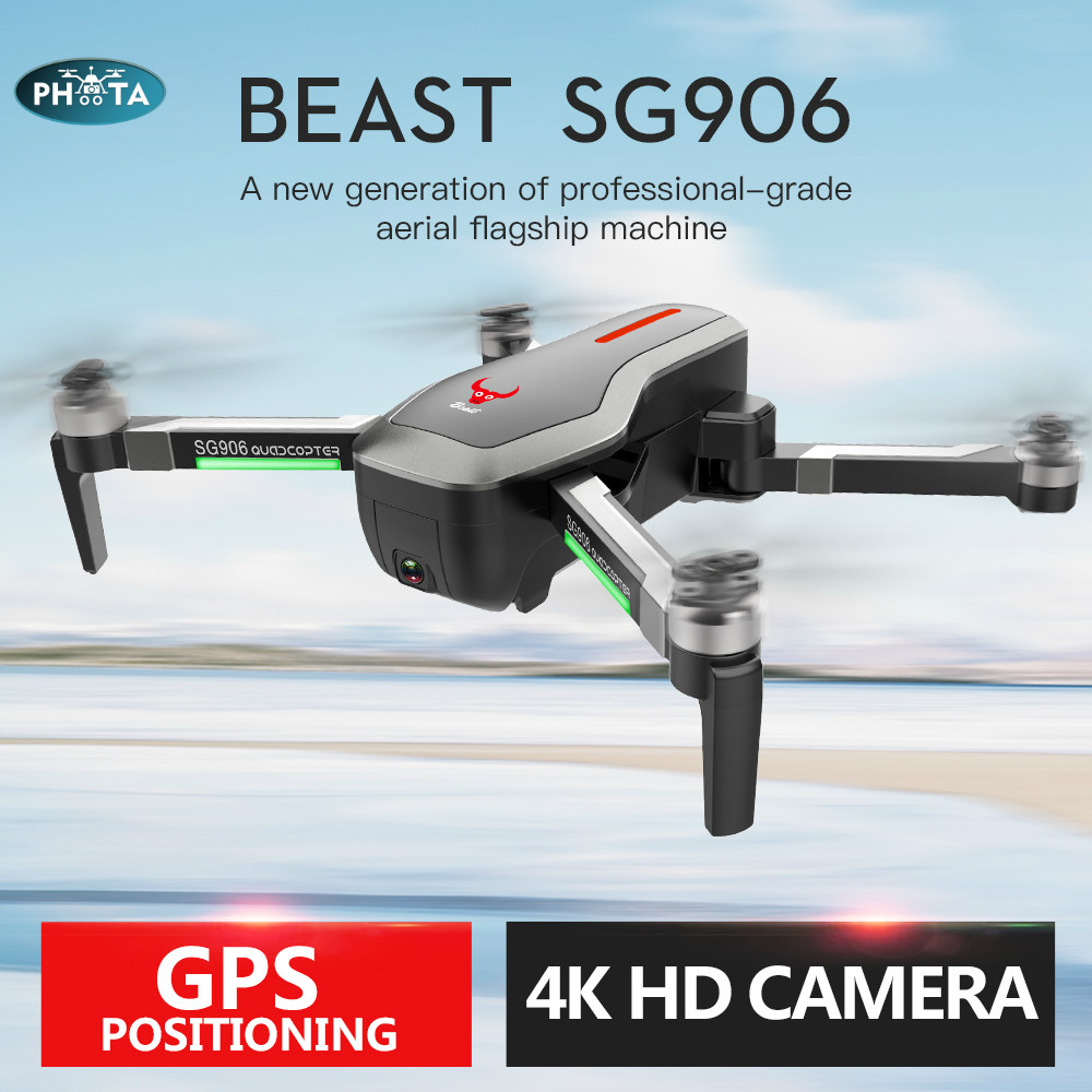 2019 NEW SG906 GPS 5G WIFI FPV RC Drone 4K  Selfie Drones Brushless with HD Camera 50x RC Quadcopter Foldable Dron VS  F11 drone