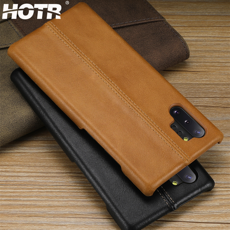 Note 10 Plus Genuine Leather Case for Samsung Galaxy Note 10 9 8 Real Leather Back Cover for Samsung s8 S9 S10 Plus Note 10 Pro